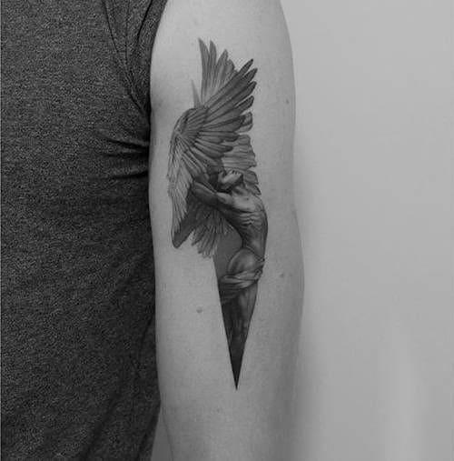 Mẫu Tattoo Cánh Thiên Thần Đẹp Chất
