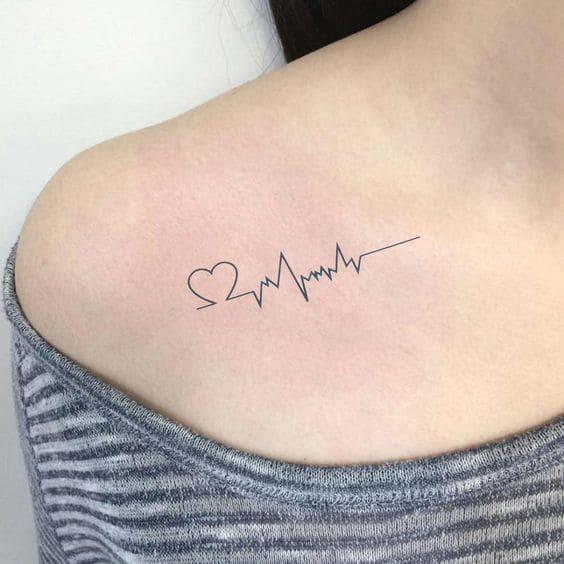 Mẫu Xăm Nhịp Tim Đập Ở Ngực