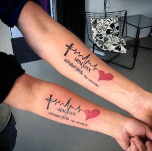 Mẫu Xăm Tattoo Nhịp Tim Chữ Đẹp