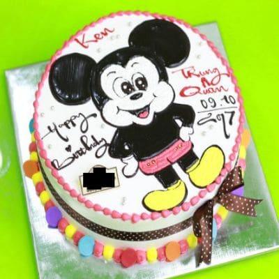 Mẫu bánh sinh nhật chuột Mickey cute