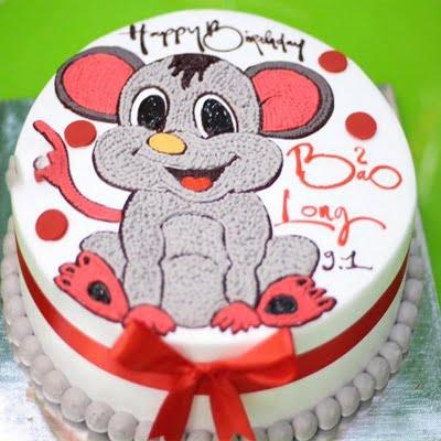 Mẫu bánh sinh nhật hình chuột đáng yêu ngộ nghĩnh