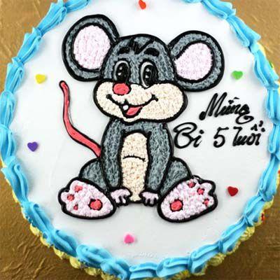 Mẫu bánh sinh nhật hình con chuột độc đáo