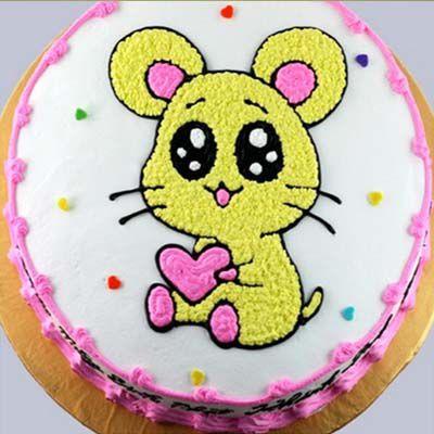 Mẫu bánh sinh nhật hình con chuột ngộ nghĩnh