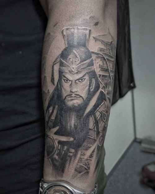 Mẫu tattoo quan vũ công trên tay