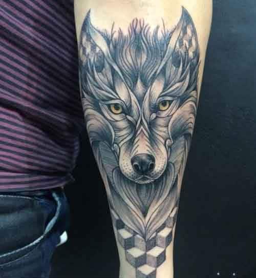 Mẫu xăm đầu sói 3d đẹp và thu hút nhất