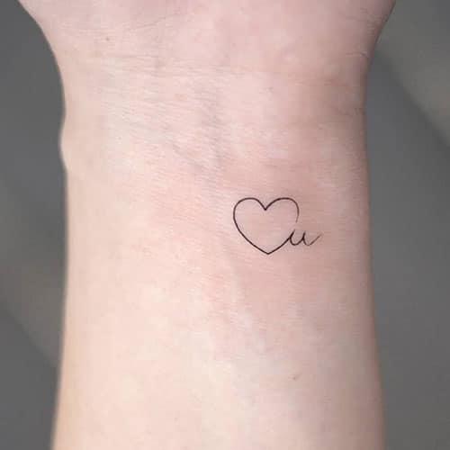 Mẫu xăm trái tim nhỏ mini xinh dễ thương