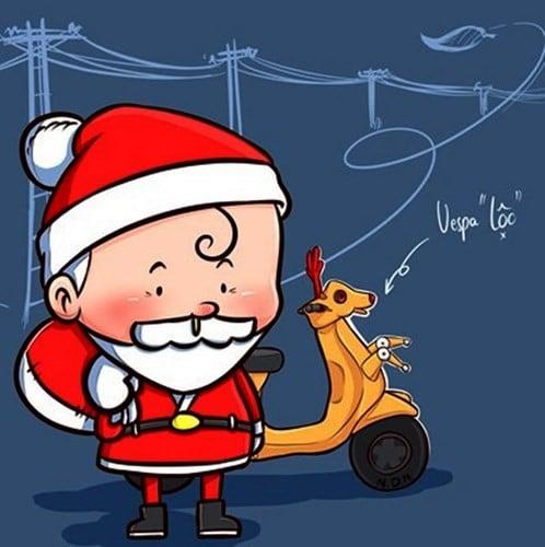 Ông già Noel và vespa lộc