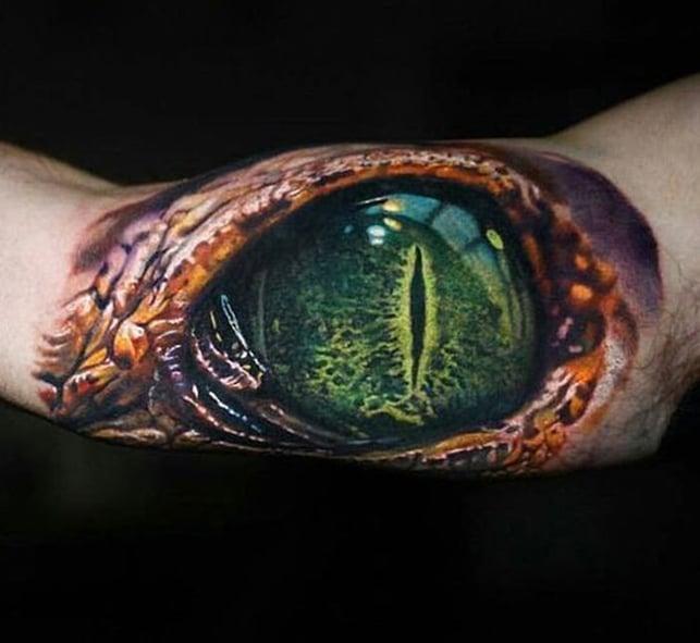 Phát cuồng với mẫu xăm 3d mắt quỷ tuyệt sắc