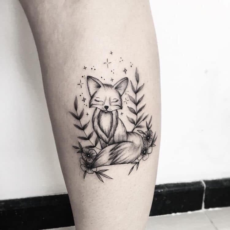 Phát cuồng với tattoo hồ ly mini