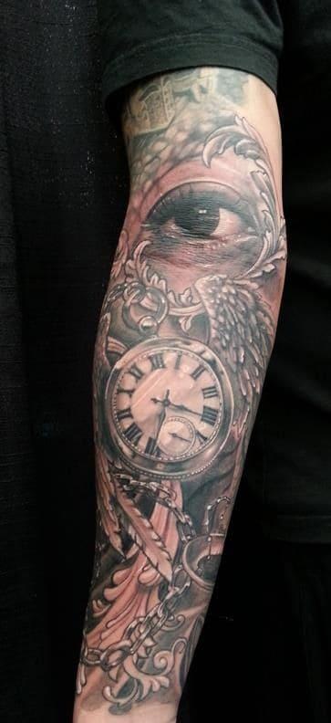 Tattoo Đồng Hồ La Mã