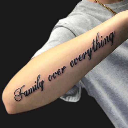 Tattoo Family Is All over everything