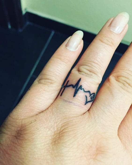 Tattoo Nhịp Tim Ở Ngón Tay