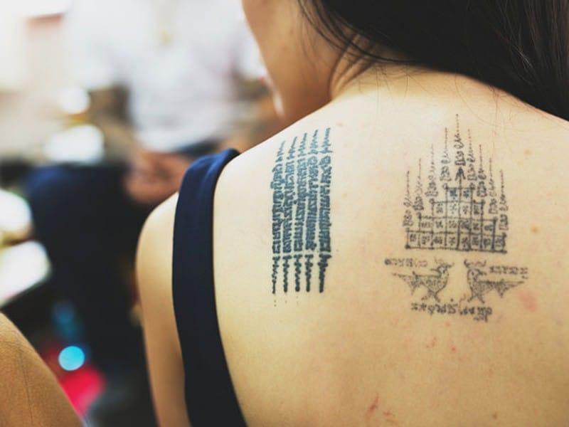 Tattoo bùa thái mini đẹp ý nghĩa