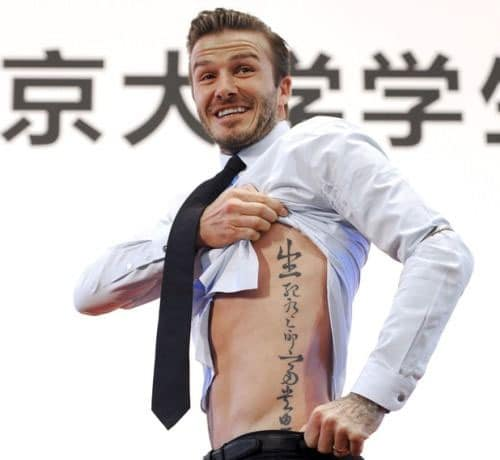 Tattoo chữ tàu mạn sườn