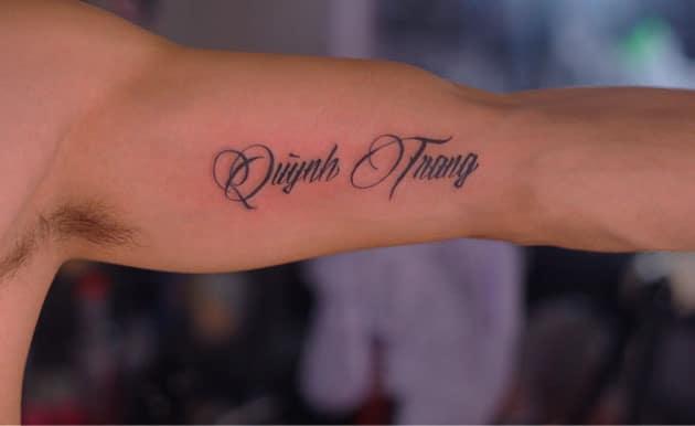 Tattoo chữ tên bản thân với ý nghĩa đặc biệt