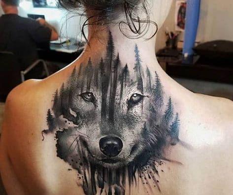 Tattoo đầu sói đẹp và quyến rũ ở cổ nhìn là muốn xăm ngay