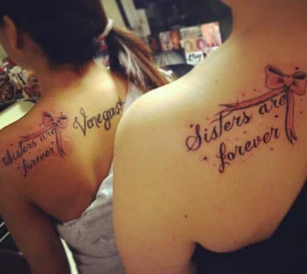 Tattoo đôi ở lưng đẹp