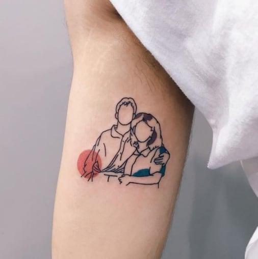 Tattoo hình cha mẹ mini đẹp