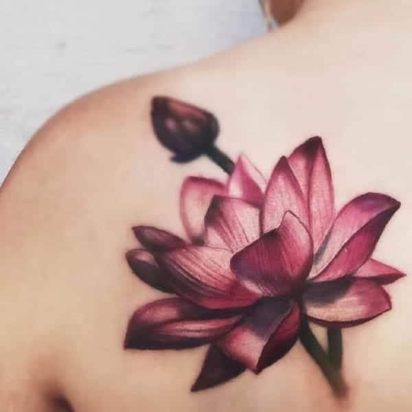 Tattoo hoa sen tuyệt đẹp
