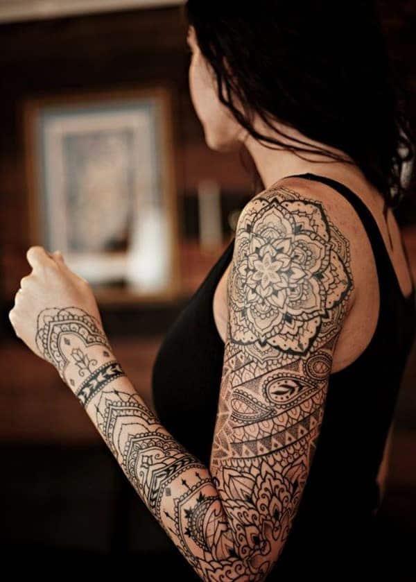 Tattoo hoa văn bít tay dành cho phái đẹp