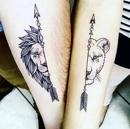 Tattoo mini cặp chất nhất cho các couple