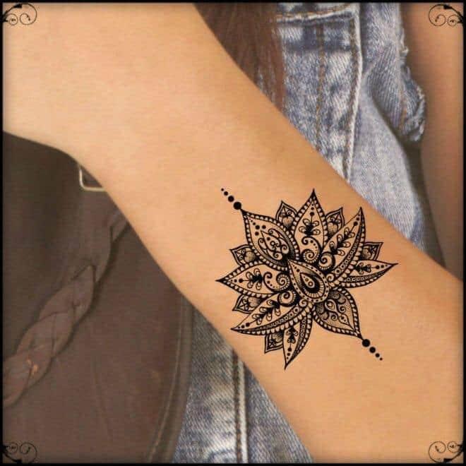 Tattoo mini hoa văn độc lạ và chất