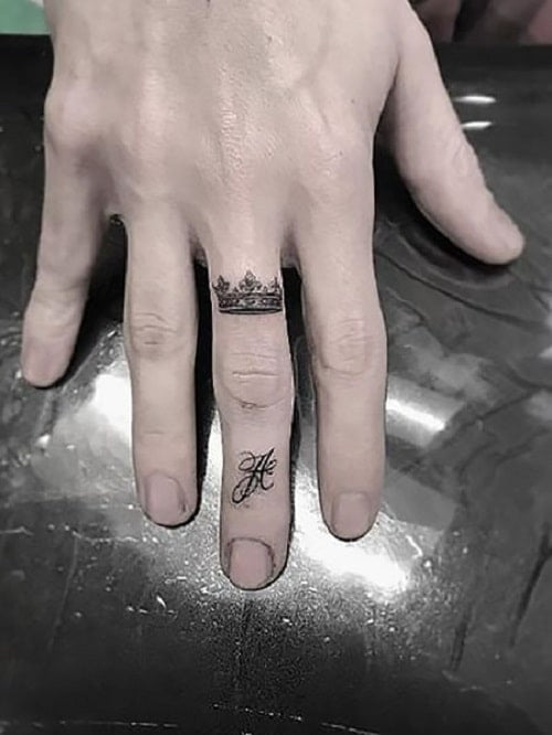 Tattoo mini ở ngón tay đẹp và chất