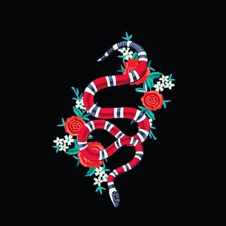 Tattoo rắn gucci đẹp và sành điệu