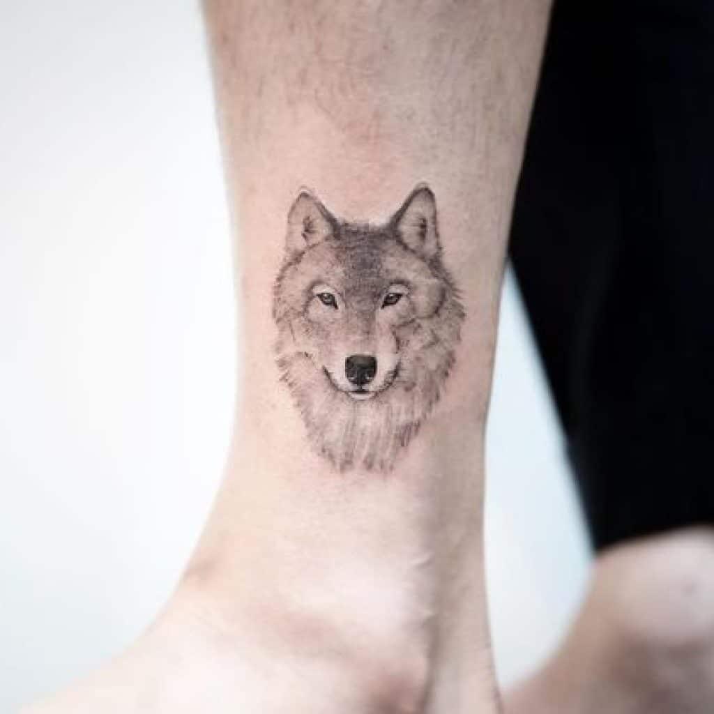 Tattoo sói mini cực đáng yêu