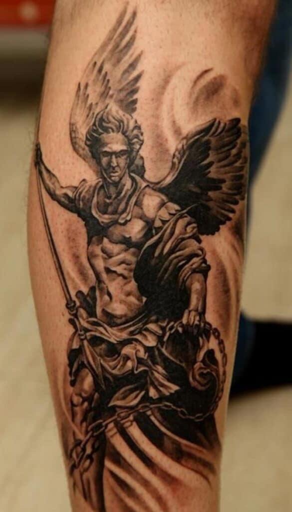 Tattoo thiên thần có cánh đẹp ngây ngất