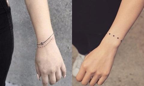 Tattoo vòng tay đơn giản tinh tế cực đẹp cho con gái