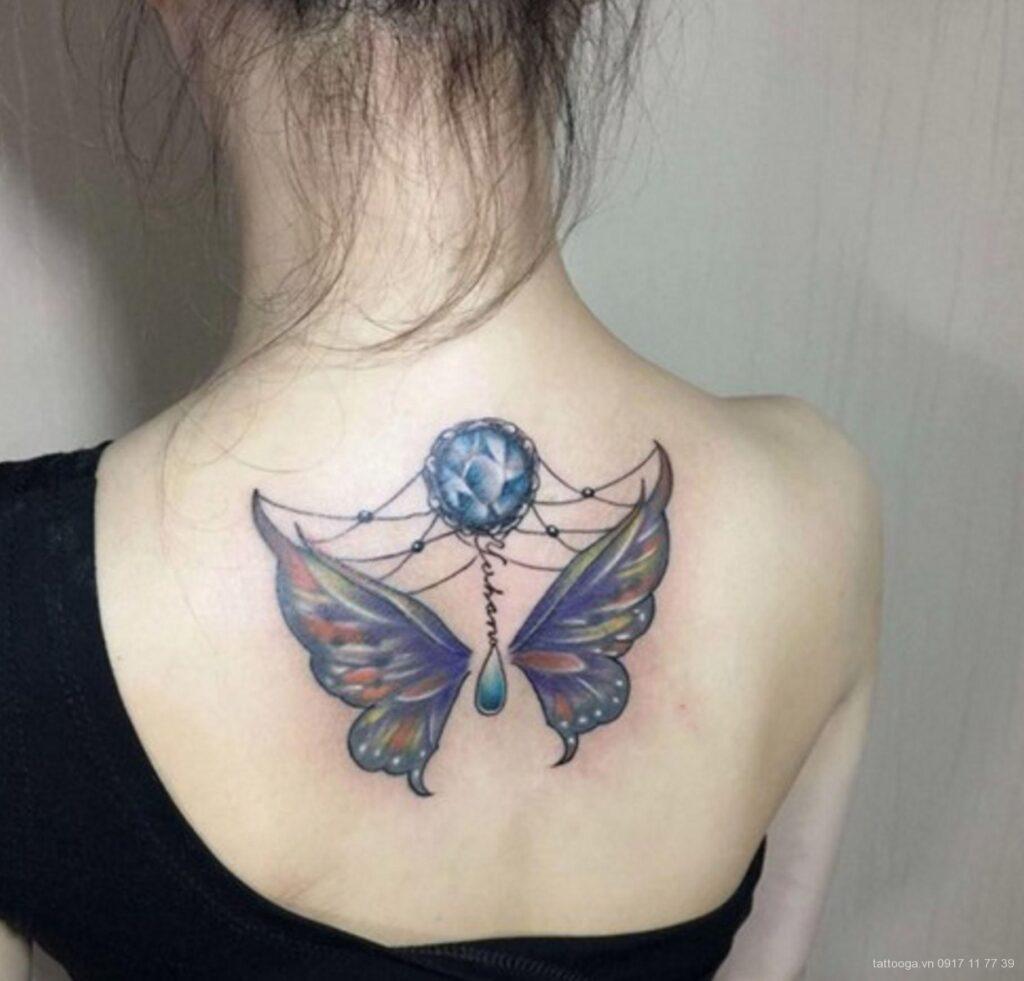 Tattoo xăm đẹp ở lưng cho nữ