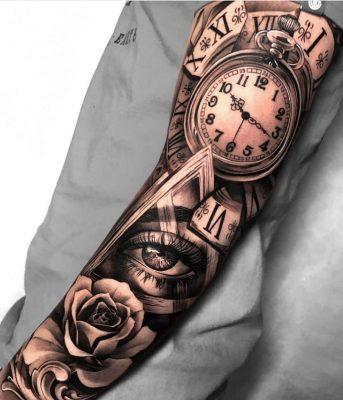 Tattoo xăm kín tay châu âu