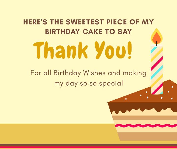 Thiệp cảm ơn sau sinh nhật bằng tiếng Anh hay