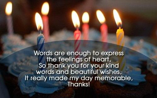 Thiệp cảm tạ sau tiệc sinh nhật