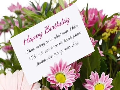 Thiệp hoa chúc sinh nhật đẹp và ý nghĩa