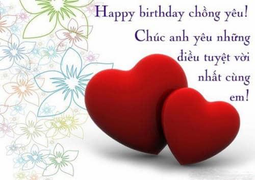 Thiệp kèm lời chúc tràn ngập tình yêu trong ngày sinh nhật chồng