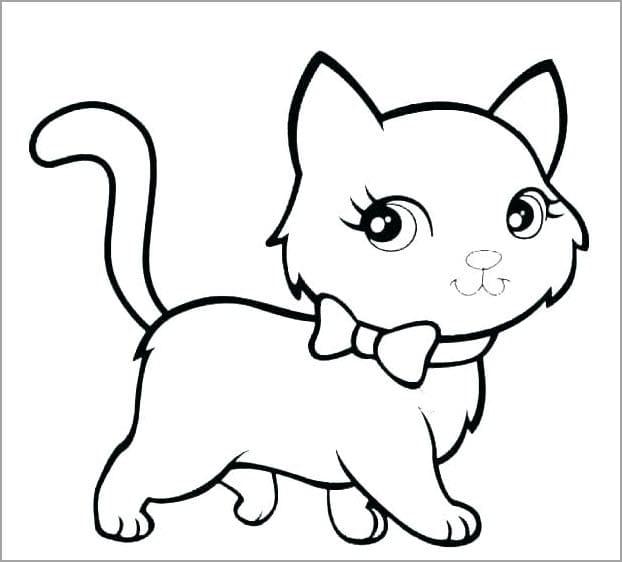 Tổng hợp hình ảnh con mèo tô màu cho bé tập tô mèo xinh đẹp