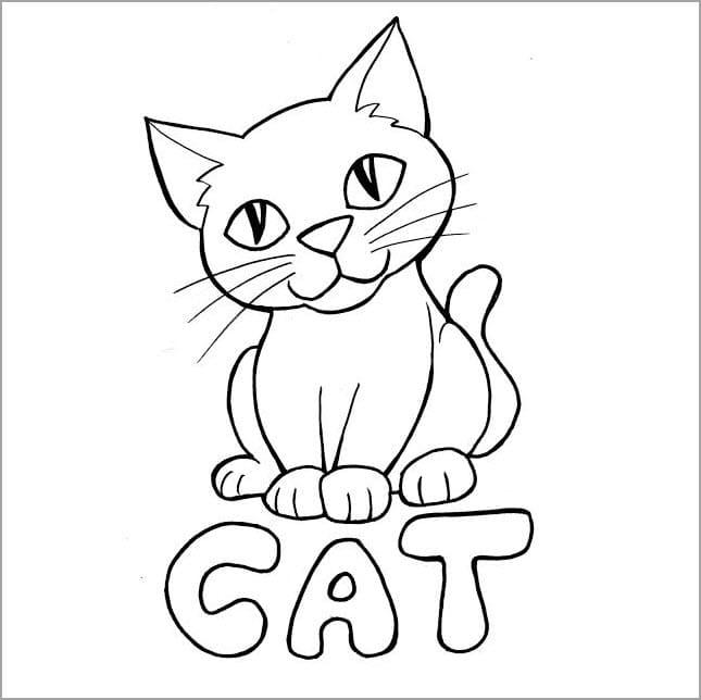Tổng hợp hình ảnh con mèo tô màu cho bé tập tô
