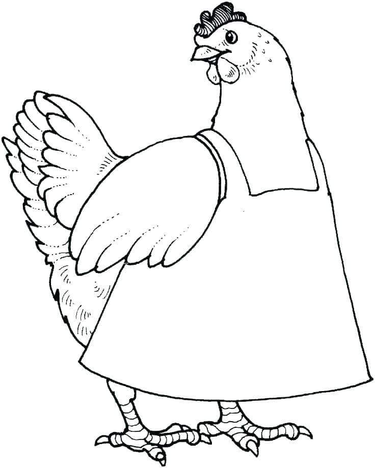 Tổng hợp các bức hình tô màu con gà đẹp cho bé