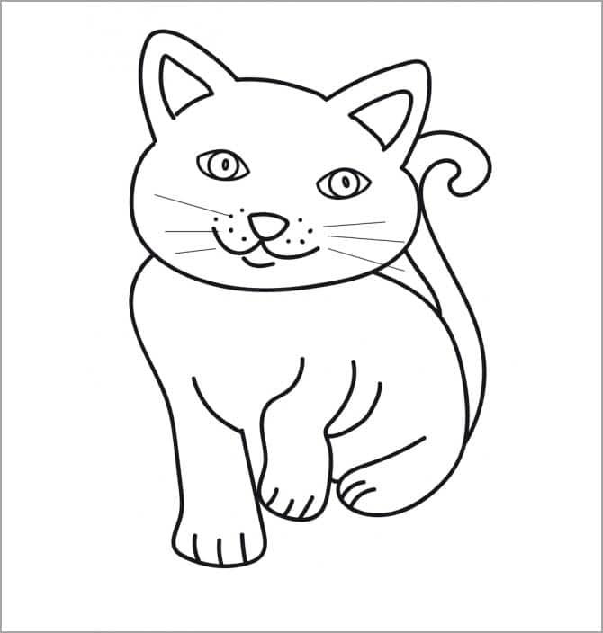 Tranh tô màu chú mèo xinh xắn cho bé đẹp nhất