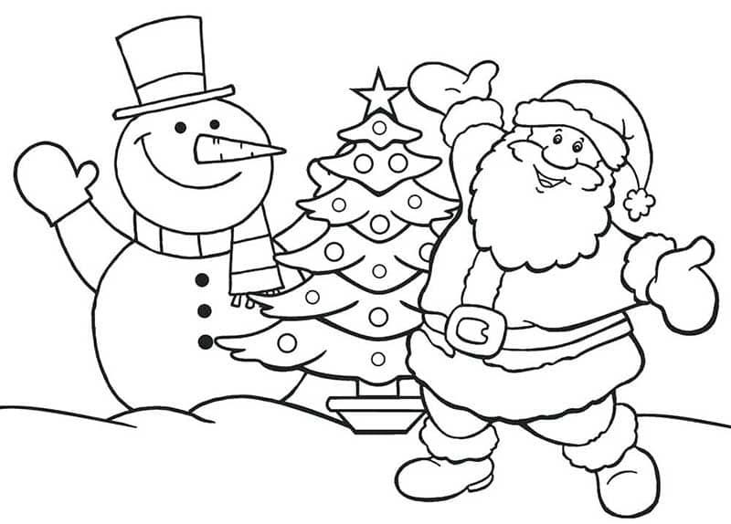 Tranh tô màu ông già Noel cho bé