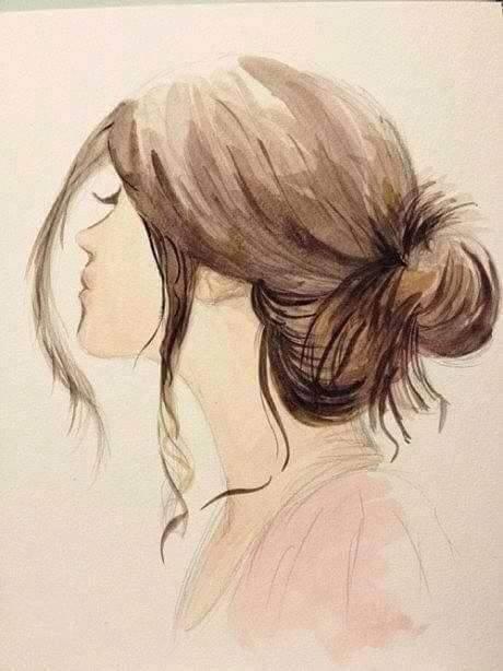 Tranh vẽ cô gái buồn cô đơn