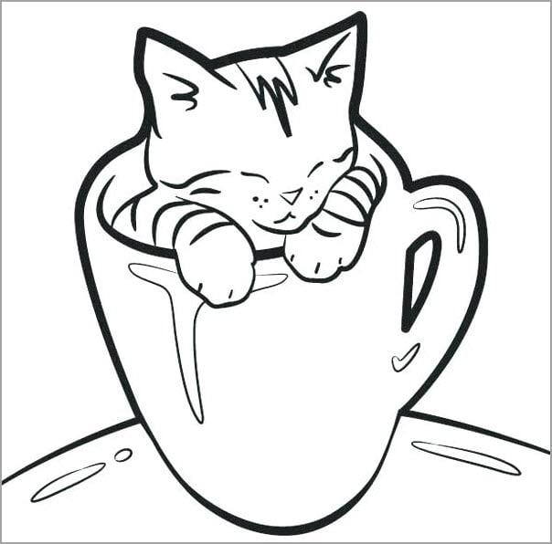 Tuyển tập tranh con mèo đáng yêu cho bé tập tô đẹp nhất