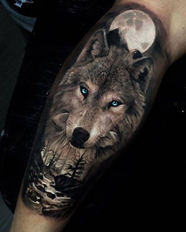 Xăm chân chó sói chất ngầu