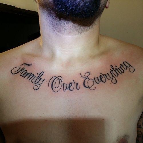 Xăm chữ ý nghĩa về Family