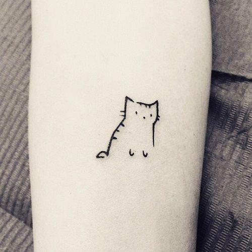 Xăm mèo nhỏ dễ thương và xinh xắn