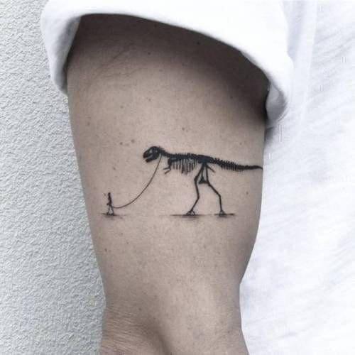 ảnh tattoo hình khủng long cực chất