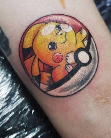 ảnh tattoo pikachu mini đẹp