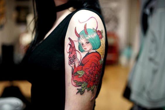 cô gái trung hoa đẹp tattoo ở tay